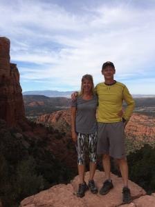 Jean Moore hiking in Arizona