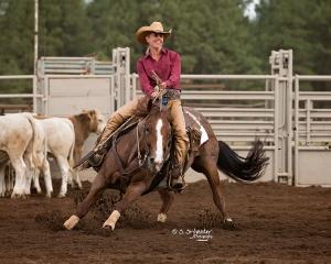 Jean More riding Smart Little Laredo